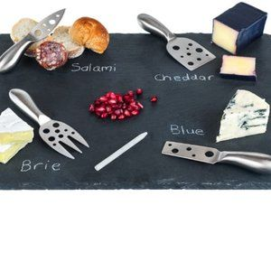 New Slate Cheese Board/ Stainless Cutlery Set